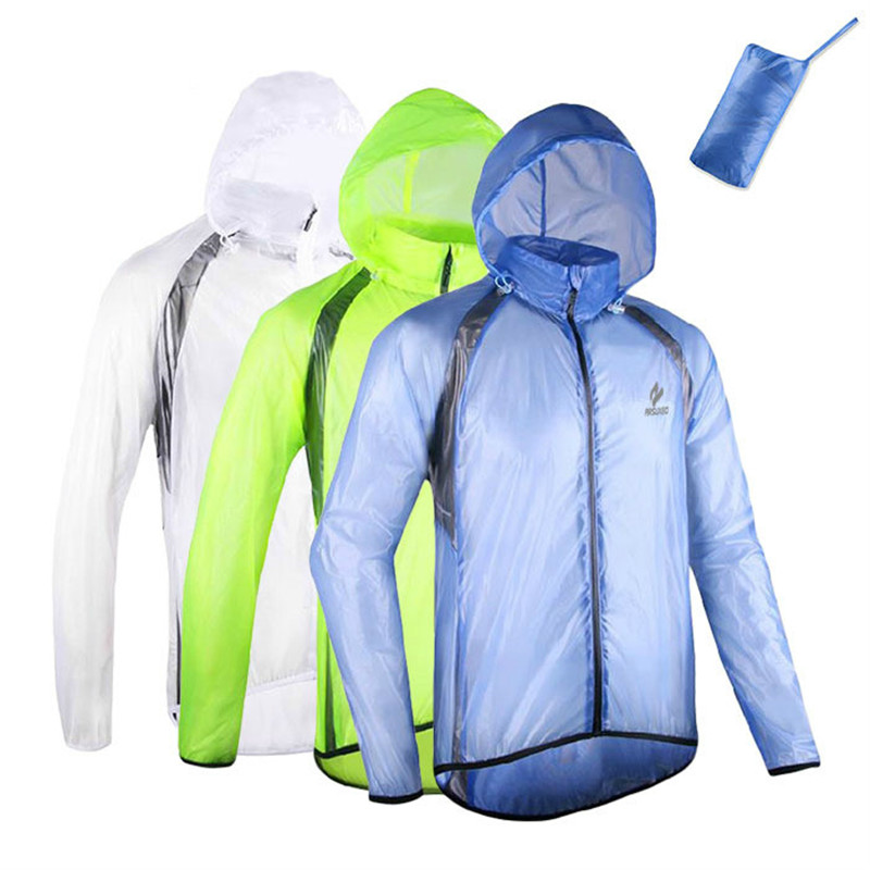 2016 Brand Men Women Cycling Rain Jacket with Storage Bag Ultra Light Compressed Breathable Outdoor Sports Riding Bike Raincoat