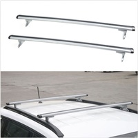 BBQ FUKA 2pcs Car Aluminum ABS Silver Luggage Carrier Top Roof Rack Cross Bars Fit For