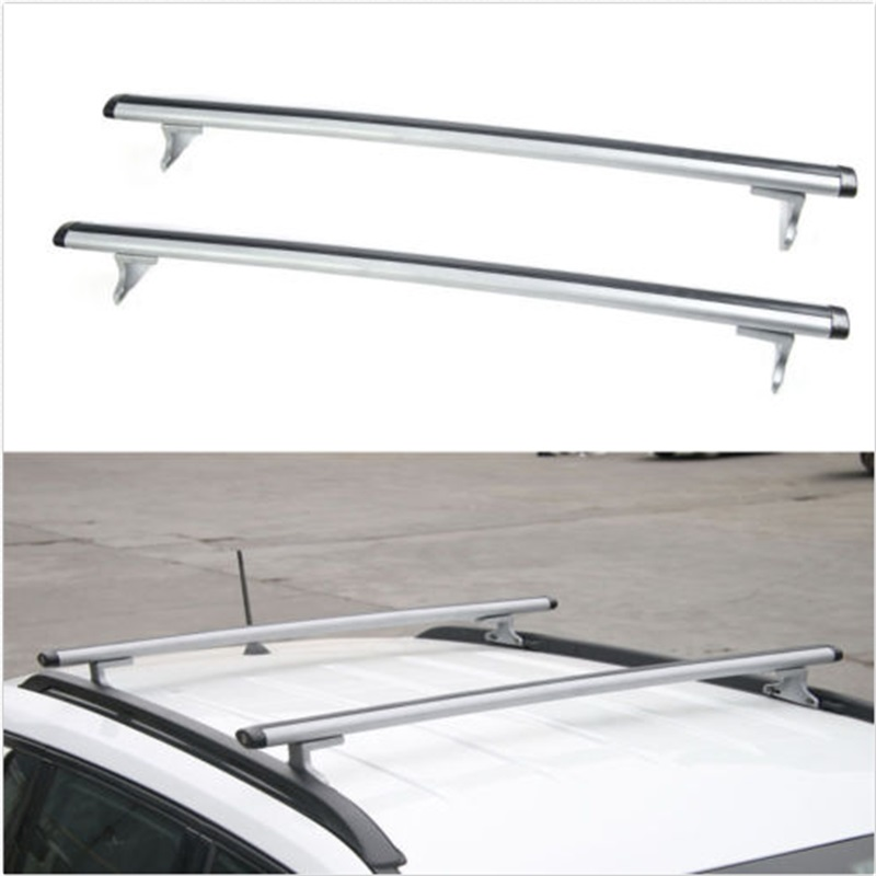 BBQ@FUKA 2pcs Car Aluminum+ABS Silver Luggage Carrier Top Roof Rack Cross Bars Fit For Compass 2017 Car-Styling Car Accessories partol car roof top cross bars roof rack cross bars rail carrier 150lbs aircraft aluminum for mazda cx 7 2007 2008 2009 2010 12