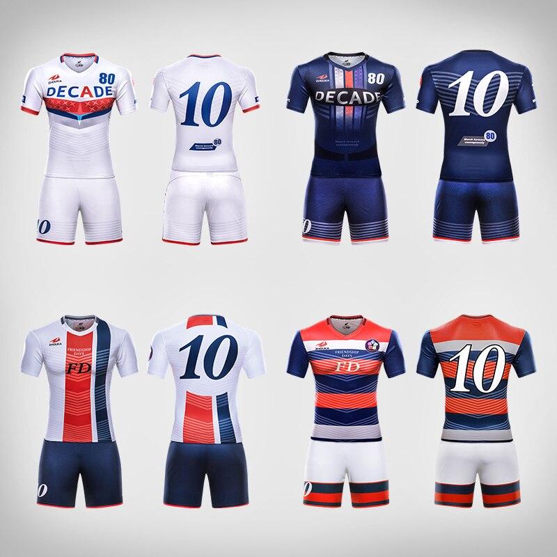 Professional design mens football uniforms kit quick dry ...