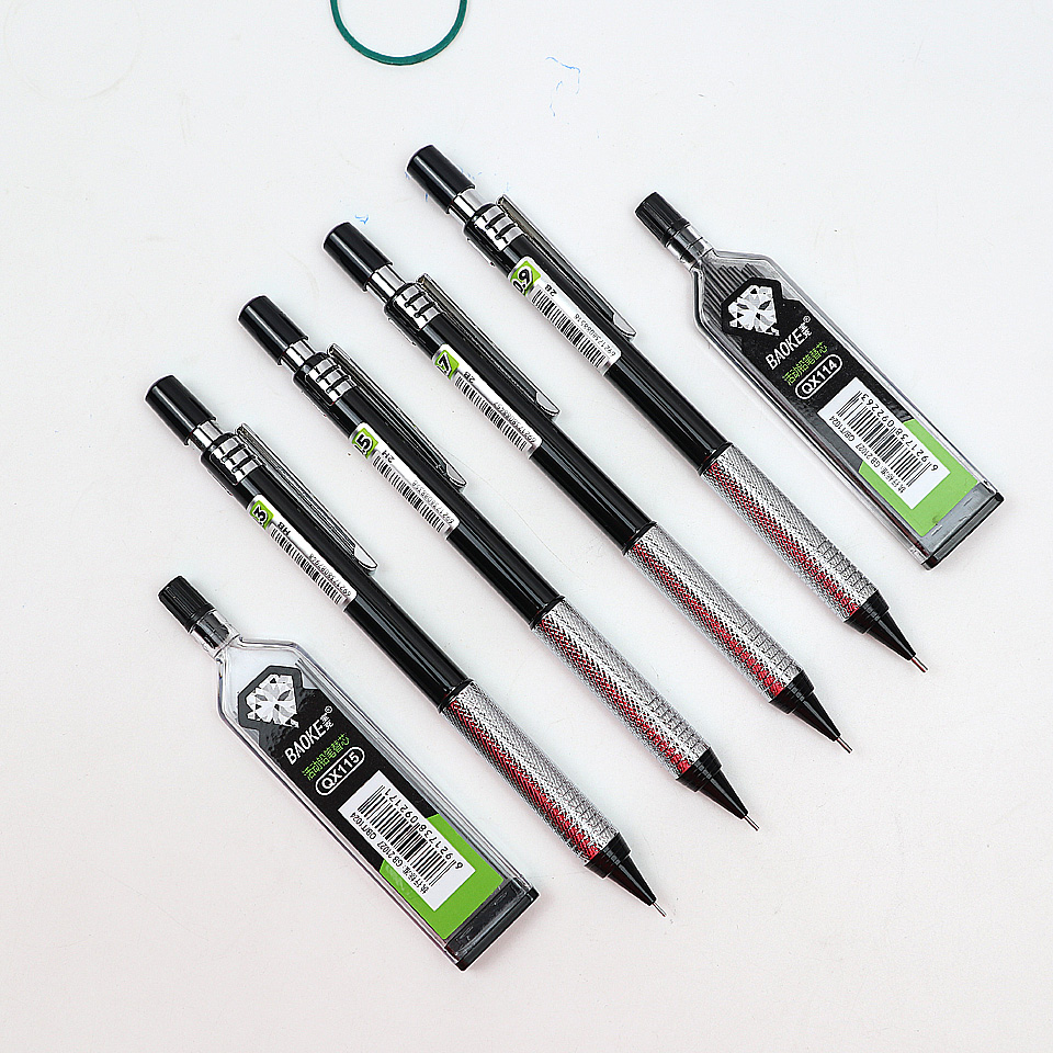 High Quality Full Metal ZD125 Mechanical Pencil 0.3~0.9mm For Professional Painting And Writing School Supplies Send 2 Refills