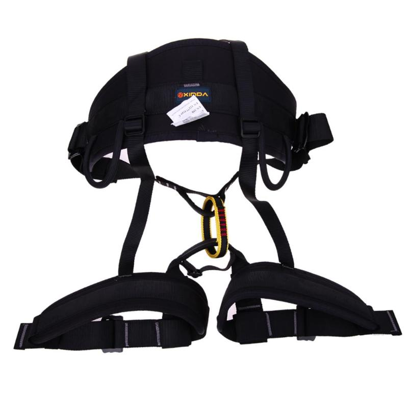 XINDA Harness Bust Seat Belt Outdoor Rock Climbing Harness Rappelling Protection Waist Seat Belt for Climbing Equipment xinda camping outdoor hiking rock climbing half body waist support safety belt harness aerial equipment