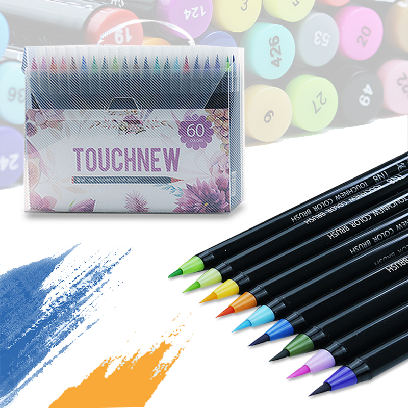 TOUCHNEW Soft Brush Markers Pen Set Sketch Brush Markers Alcohol Based Markers Manga Drawing Animation Design Art SuppliesTOUCHNEW Soft Brush Markers Pen Set Sketch Brush Markers Alcohol Based Markers Manga Drawing Animation Design Art Supplies