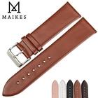 MAIKES Watch Accessories Bracelet 12mm-24mm Watchband Women Genuine Leather Watch Strap Men For CK TIMEX TISSOT DW Watch Band