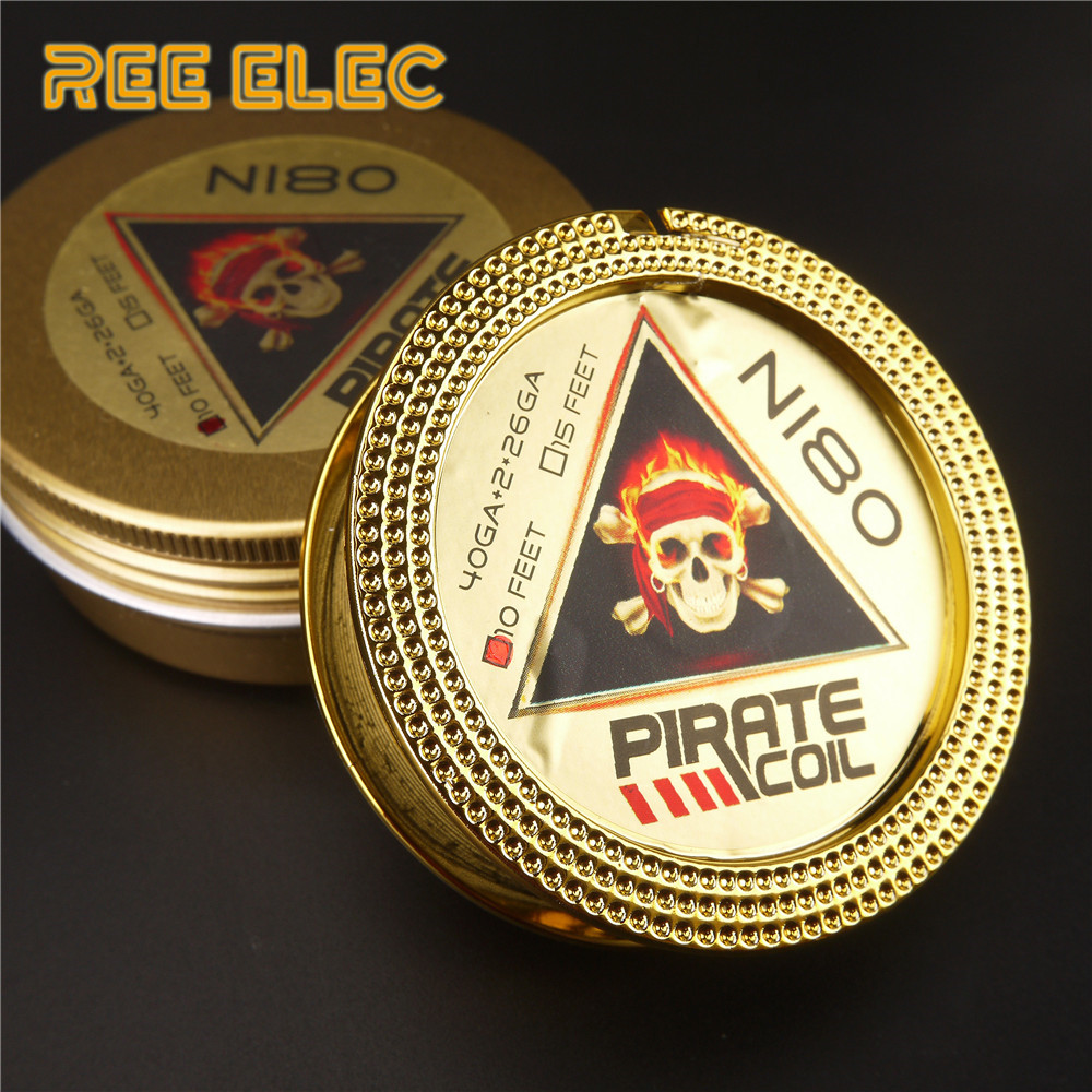 PIRATE COIL Best Quality Alien Clapton Heating Wires 10Feet/roll RDA RTA Atomizer Coils DIY Tool Vape Pen Heating Wire