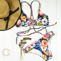 Bikinis Vintage Swimwear Female Women Biquini 2017 Sexy Bandeau Thong Brazilian Bikini Set Bathing Suits Swimsuit Beachwear