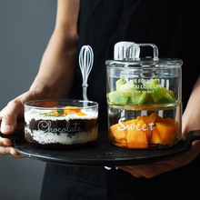 crystal glass jar storage cups