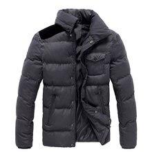 Winter Sllim Mandarin Collar  Men Coat Jacket Keep Warm Thicker Fashion Hot Sell  Casual Wear Y0087