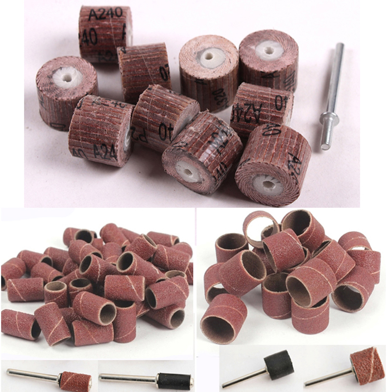 цена на 70pcs sandpaper grinding wheel dremel rotary tool accessories abrasive sanding disc sand paper polishing for woodworking tools