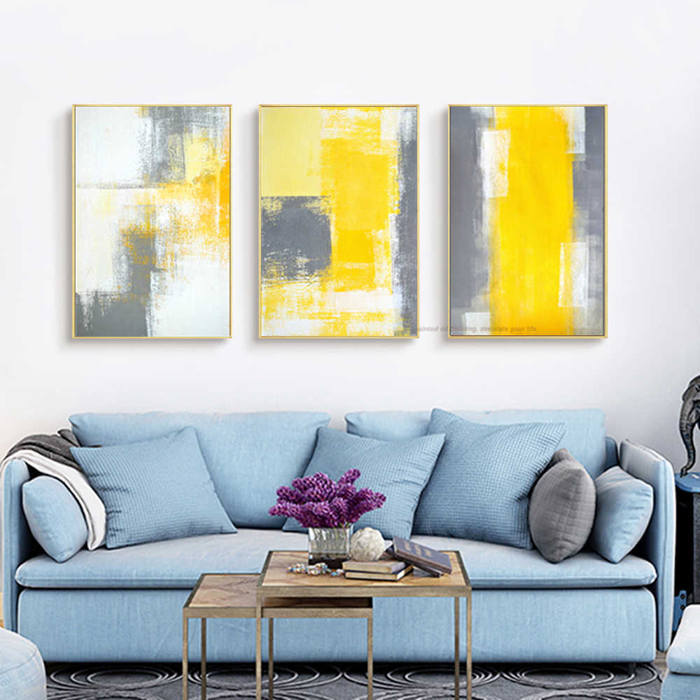 3 Piece Canvas Painting Abstract Oil