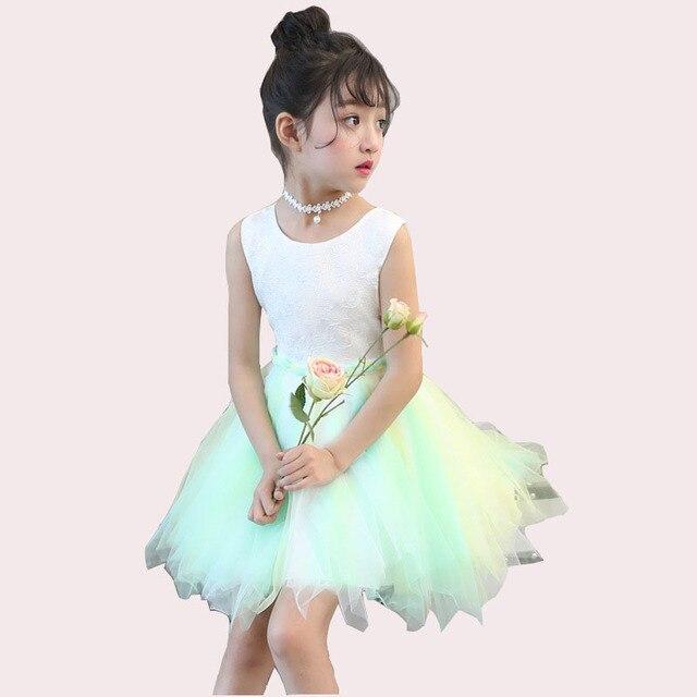 c5f22460036b32 Bridal Bloem Meisje Jurk feestavond kerst jurk kinderen witte jurk prinses  meisje 4 6 8 10
