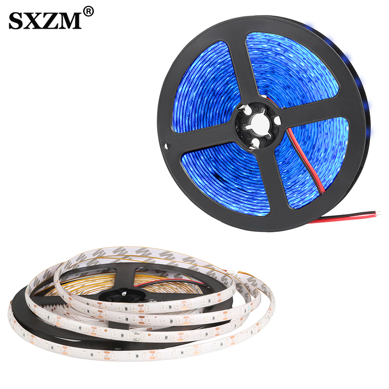DC12V <font><b>LED</b></font> Strip 2835 120led/m 5Meters Flexible Strip Light Waterproof IP65 Non-waterproof Strip <font><b>Led</b></font> <font><b>SMD</b></font> 2835 Light Lamp image