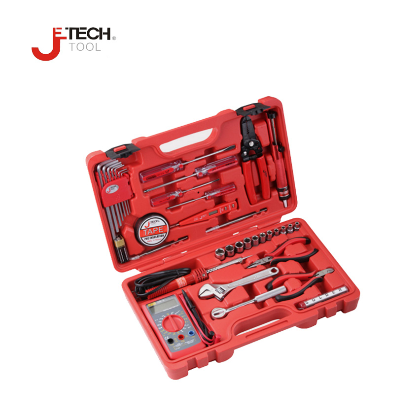 Jetech 35pcs/set equipment technician electronic DIY combination repair tool tools kit set ferramentas set in the case tool box 1 combination 5 in 1 diy diy crease leather tool set repair knife thinning edge leather craft tool with hex key