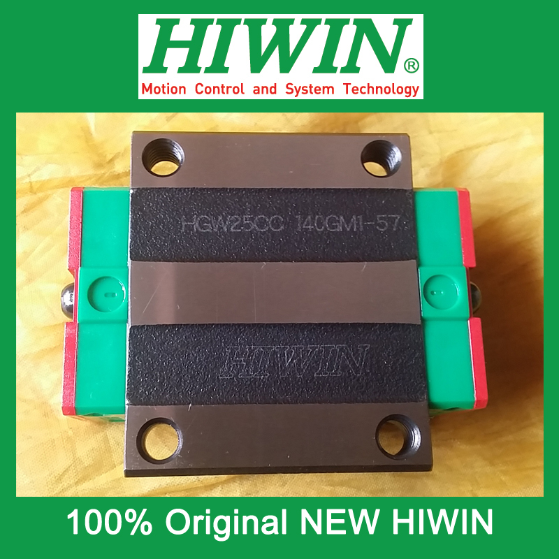 1pcs HIWIN HGW25 HGW25CC HG25 New original linear guide block Original HIWIN Linear Guide CNC Parts Stock Good  original new hiwin linear guide block carriages hg25 hgw25cch hgw25cc hgr25 for cnc parts