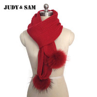 Apparel Accessories Unique New Reccoon Fur Scarf Women Wool Knitted White Black Long Winter Scarves With