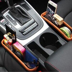 Image 2 - Органайзер для автомобильного сиденья, кожаный ящик для хранения автомобильного сиденья, консоль, боковой карман с нескользящим ковриком для сотового телефона, кошелек, карта для ключей от монет