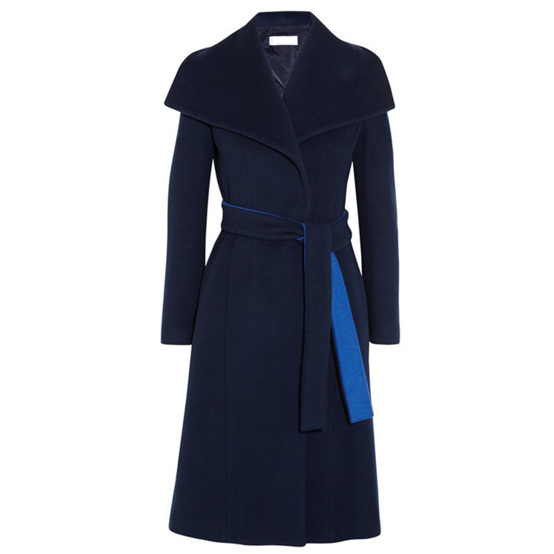 Laine Féminin De Survêtement M41 Casaco Cocon Famale long Manteau Mode Printemps Mince Automne Femmes Moyen Mélange Hiver wRdXOq