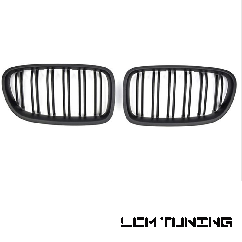 For BMW 5 Series F10 2010 2016 Double Slats Gloss black Matt black Black Chrome Front Grille in Racing Grills from Automobiles Motorcycles