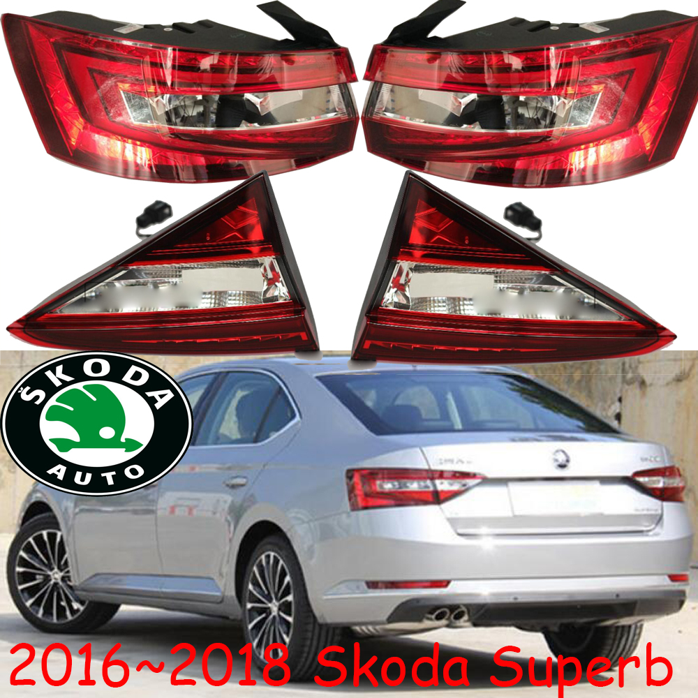 2016 2017 2018year,Superb taillight,chrome;Free ship!LED,Super rear light,car-styling,yeti,rapid,Superb fog light