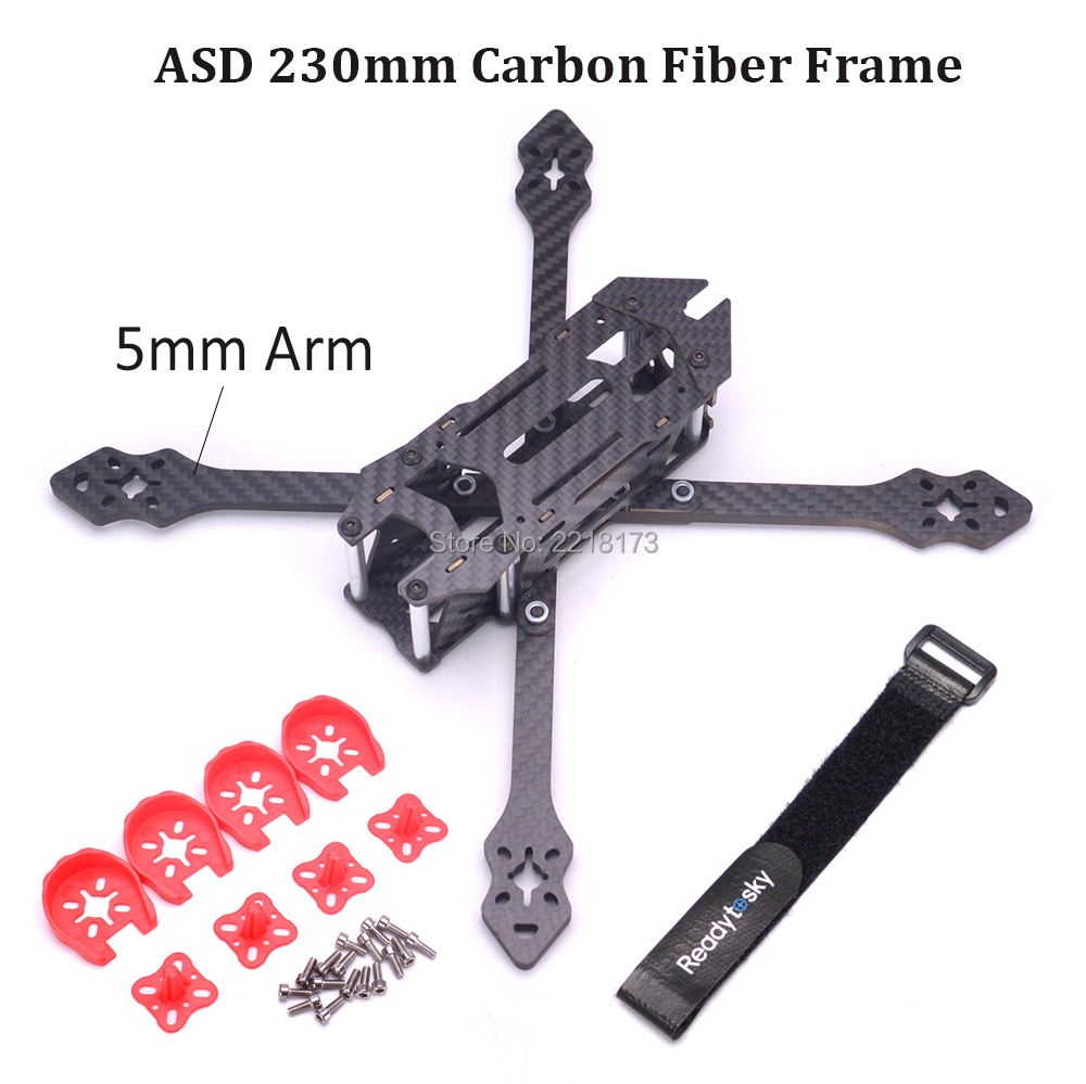 asd 230 230mm 5 inch true x with 5mm arm carbon fiber frame quadcopter for xbee fpv rc racing. Black Bedroom Furniture Sets. Home Design Ideas