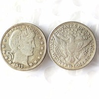 90 Silver 1911 Barber Quarter Dollars Retail Wholesale USA Copy Coins