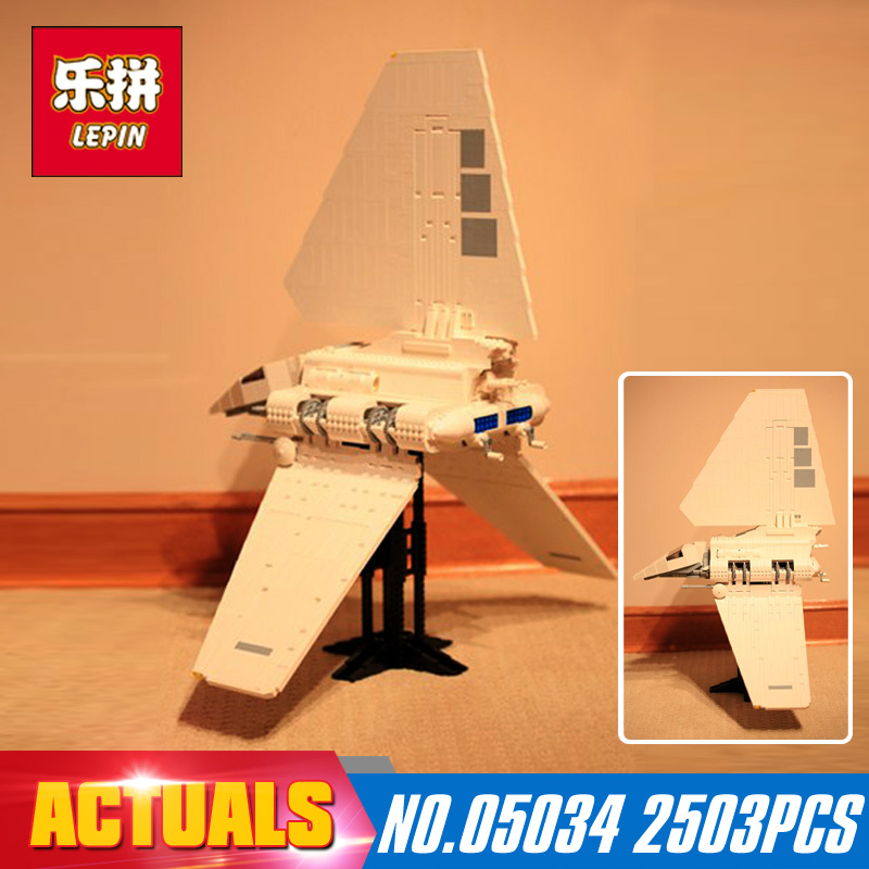 Star Wars 2503Pcs Lepin 05034 The Shuttle Model Building Blocks Bricks Compatible Children Toy DIY Gift With model 10212 lepin 16014 1230pcs space shuttle expedition model building kits set blocks bricks compatible with lego gift kid children toy