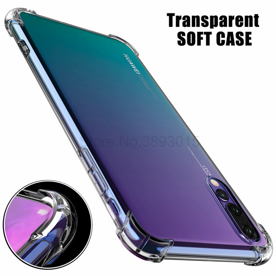 Transparent Soft <font><b>Shockproof</b></font> <font><b>Case</b></font> For <font><b>Huawei</b></font> Y5 Y6 <font><b>Y7</b></font> Y9 prime <font><b>2019</b></font> 2018 nova 5 5i 4 4e 3 3i 3e P30 pro P20 Lite Clear Protective image