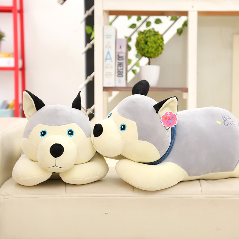 Permalink to Stuffed animals plush soft kawaii plush dog have love Kid toys  super soft doll scarf scarf husky pillow doll  gift 40cm high