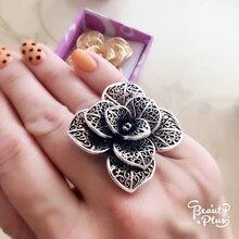 Adjustable Flower Rings