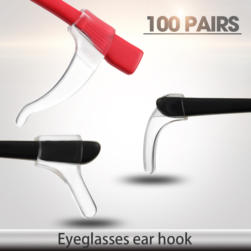 200pcs/lot Economic Sunglasses eyeglasses silicone ear hook Anti Slip temple tip holder glasses accessories-in Eyewear Accessories from Apparel Accessories