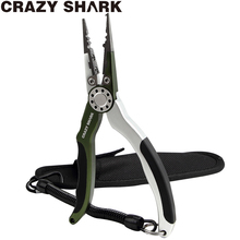 CrazyShark Aluminium Fishing Pliers Split Ring Braid Cutters Crimper Hook Remover Saltwater Resistant Fishing Gear Tools Purple