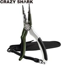 CrazyShark Aluminium Vissen Tang Split Ring Braid Cutters Crimper Haak Remover Zoutwater Slip Vissen Gear Gereedschap Paars