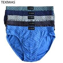 2019 novo 4 pçs/lote 100% algodão dos homens briefs underwear briefs nova chegada cuecas masculinas mais tamanho xxl xxxxxl