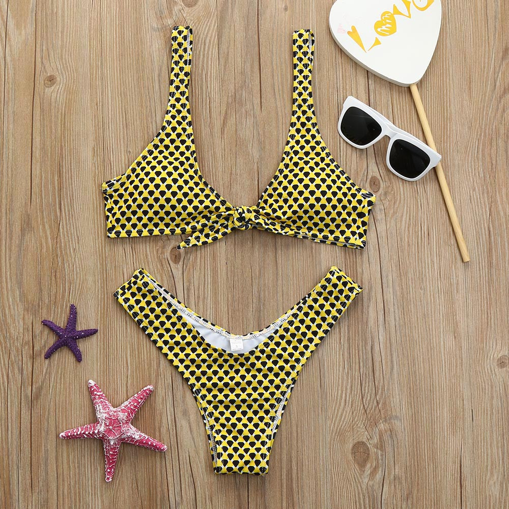 Womail 2018 Womens high cut Swimwear Sexy Bandage Bikini Set Push Up Padded Swiming suit maio feminino praia Swimsuit #N1802