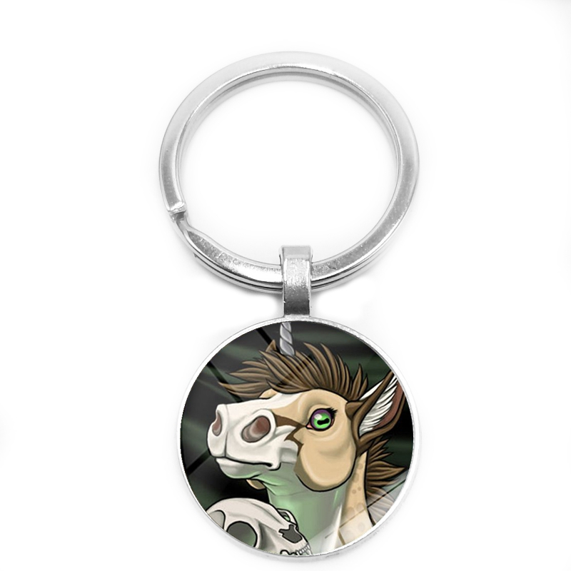 Heat 2019 New Cute Cartoon Animal Head Making Key Ring Glass Cabochon Key Ring Boys and Girls Gifts in Key Chains from Jewelry Accessories