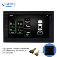 FUNROVER old vw Android Car GPS Navigation Radio ISO plug For Old VW Transporter T4 Passat Mk5 Golf Mk4 Polo Jetta canbus RDS FM