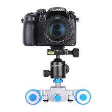 YELANGU L3 intelligent 3-Wheel Mini Motorized Electric Camera Dolly Car Track Slider Skater For iPhone Canon Nikon Sony DSLR Ca
