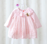2015 New Girl Dress European Style Baby Dress Baby Girls Clothes Cotton Baby Girl Christening Gowns