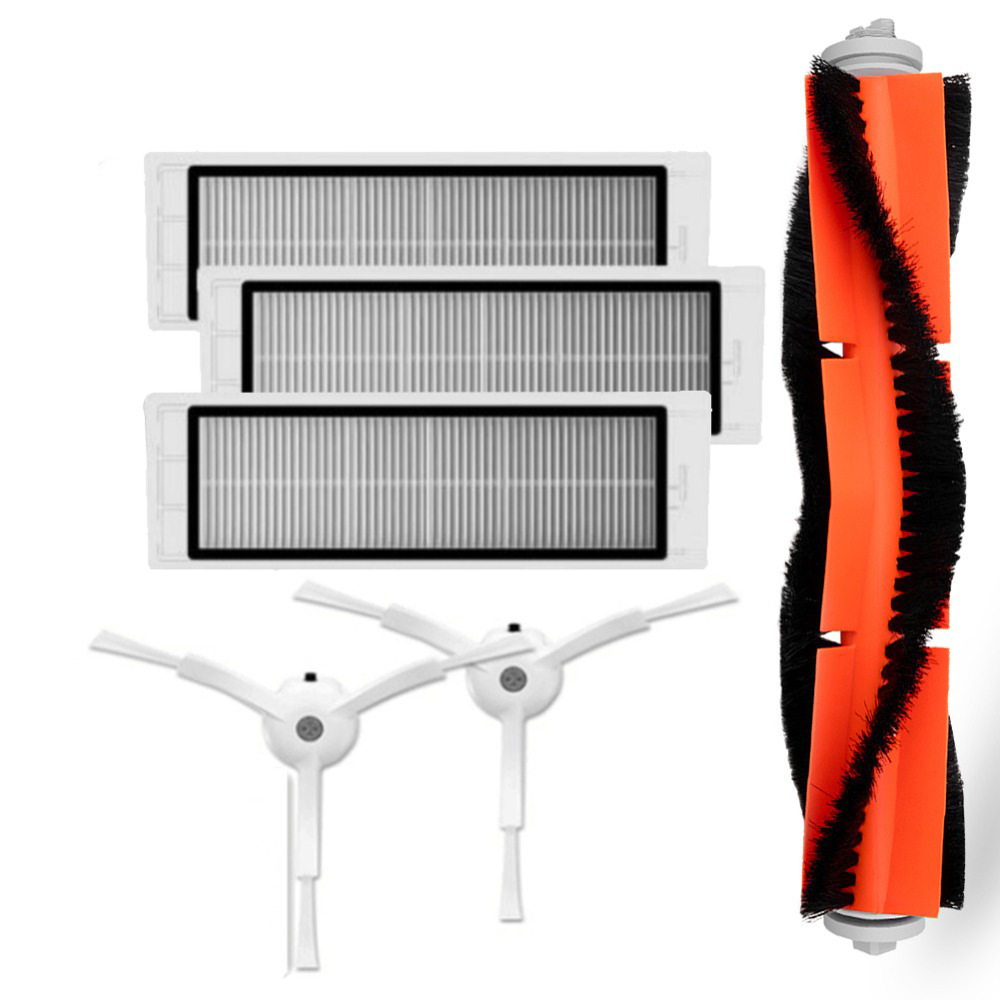 2 * side brush + 3* HEPA filter + 1* main brush Suitable for xiaomi vacuum 2 roborock s50 xiaomi roborock Xiaomi Mi Robot