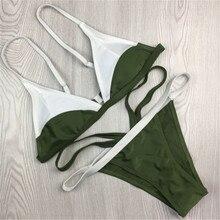 Women's Bandge Push-up Padded Bra Bandage Bikini Set Swimsuit Bath Suit Swimwear Bathing