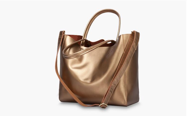 ФОТО New arrival pearl leather women's handbag big capacity female split leather shoulder bag lady's fashion tote bag high quality