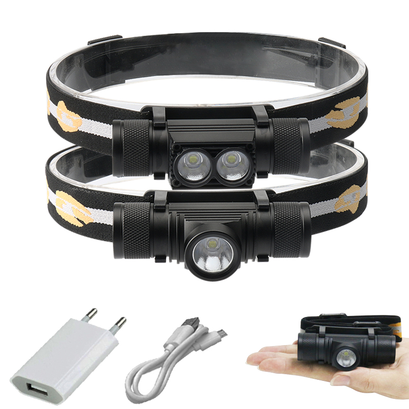 Us 7 99 50 Off Cree Xm L2 Led Headlamp Usb Headlight 18650 Rechargeable Battery Torch Head Flashlight Ed Lamp Waterproof Camping Light In