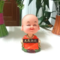 Retail Packing Free Shipping Plastic  Cartoon Lucky Gift  Coil Spring Hapy Dancing Monk Novelty Toy