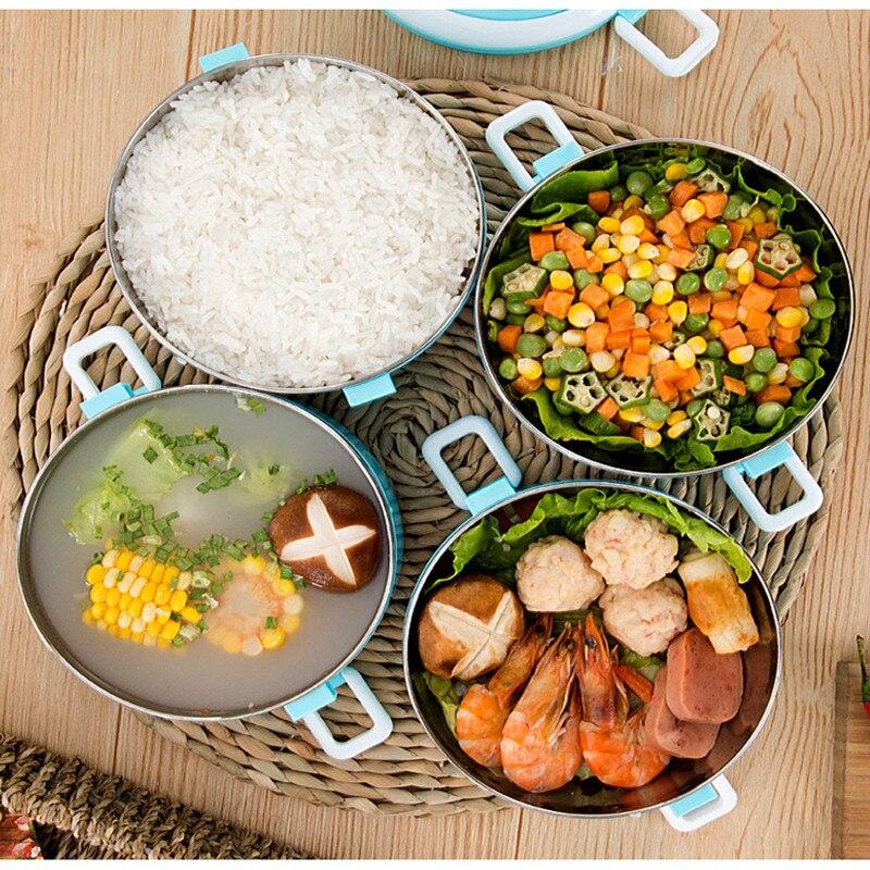 304 Edelstahl Multi-schicht Thermos Mittagessen Box Kinder Tragbare Japanischen-stil Beheizten Lunchbox Picknick Isolierung Lebensmittel Container