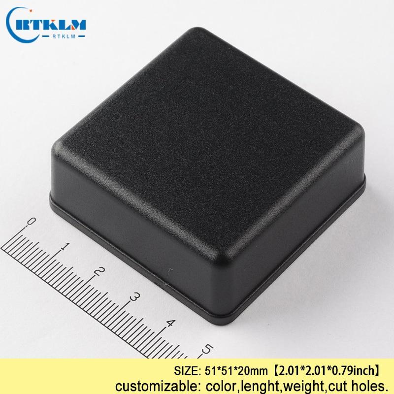 Kleine plastic elektrische doos diy instrument case abs plastic junction box IP54 plastic doos voor elektronische project doos 51 * 51*20mm