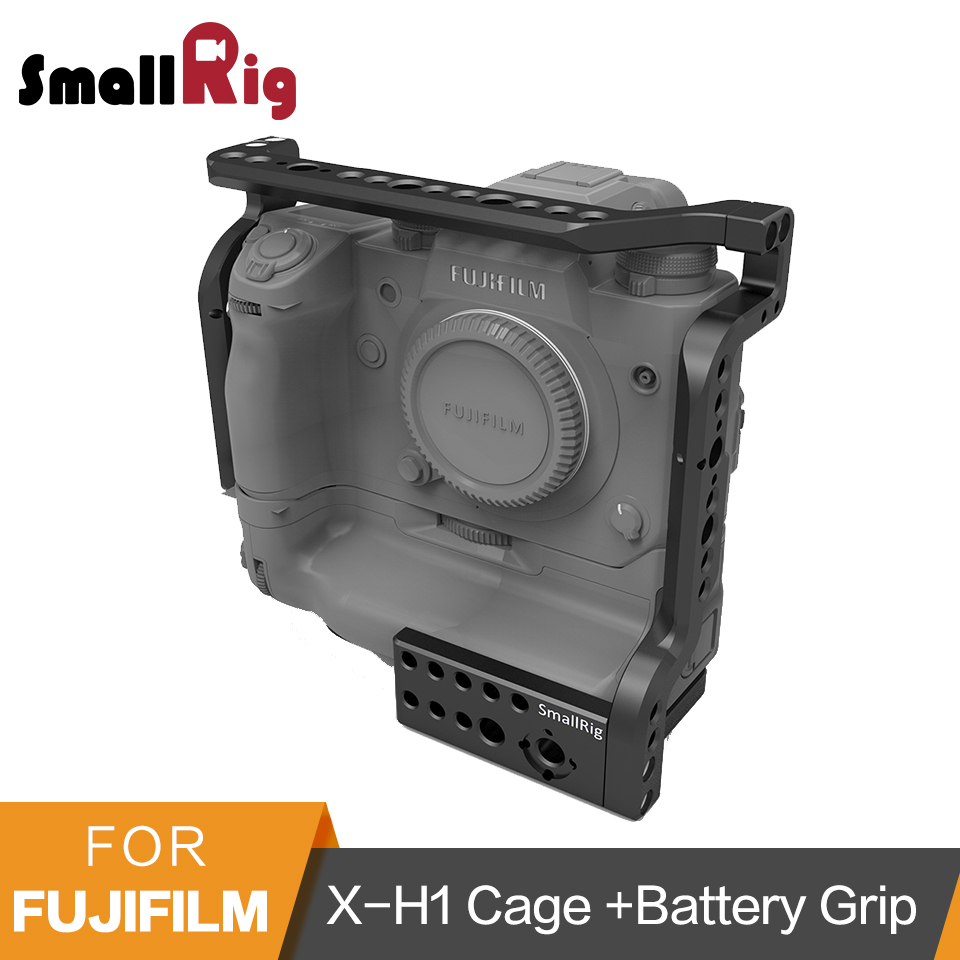 SmallRig Cage For Fujifilm X-H1 VPB-XH1 Camera With Battery Grip/Built-in NATO Rails/Arri 3/8Locating Points -2124 pixle vertax d14 battery grip as mb d14 for nikon dslr d600 d610 camera