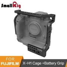 """Gaiola Para Fujifilm SmallRig X-H1 VPB-XH1 Câmera Com Aperto Da Bateria/Embutido NATO Rails/Arri 3/8 """"Pontos de Localização-2124"""