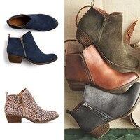 Tangnest/женские замшевые ботинки; сезон весна; короткие ботильоны на низком каблуке; винтажные мотоциклетные ботинки для верховой езды; обувь ...
