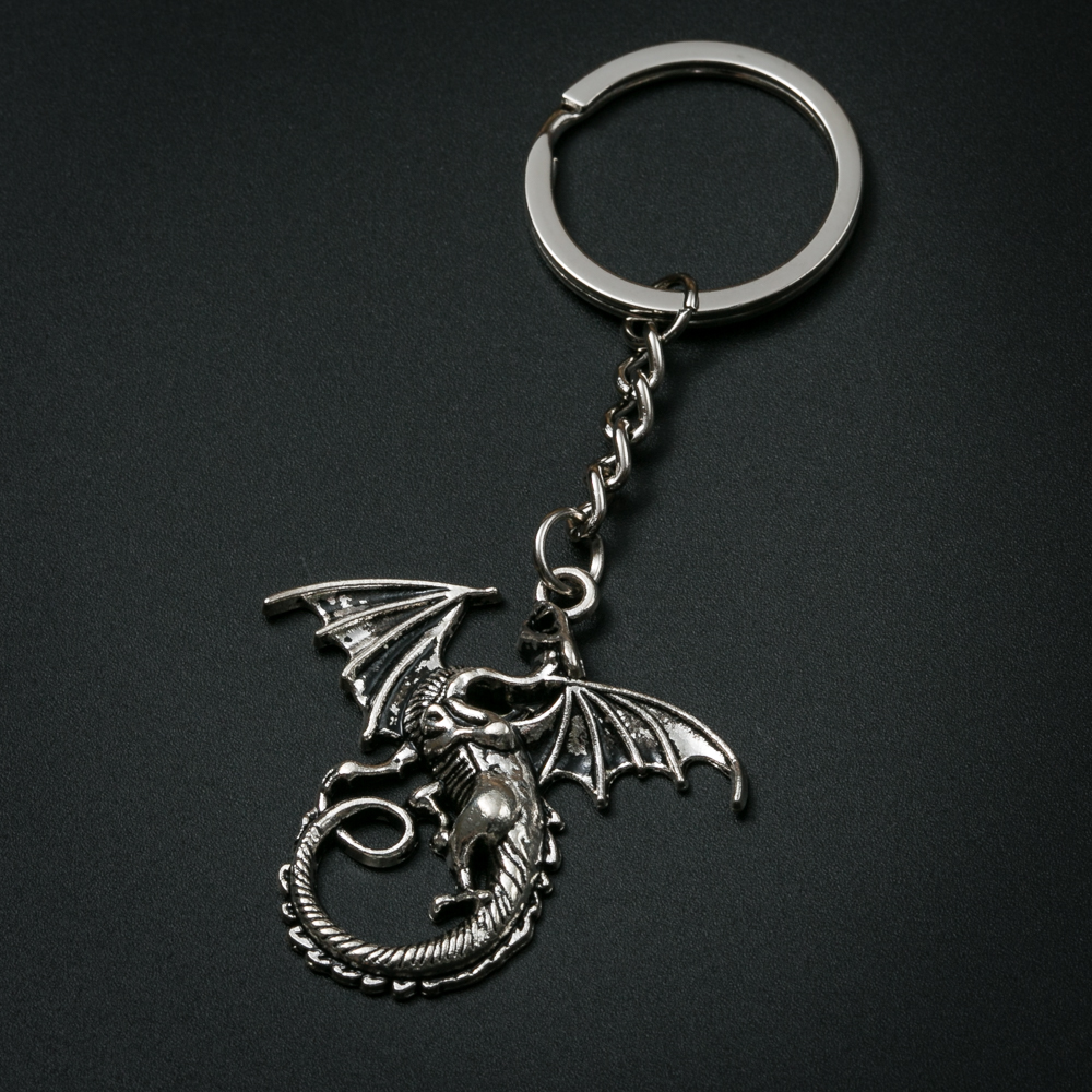 Game Of Thrones Fashion Creative Dragon Keychain Metal Charm Key Ring For Gift Car Key Chain Jewelry