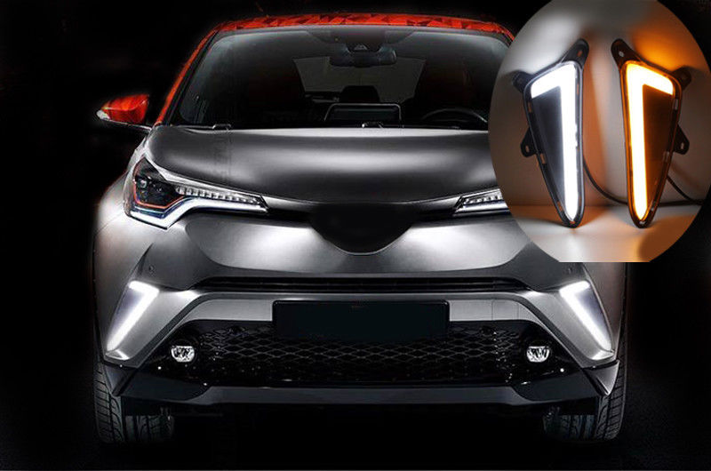 Front Bumper Side Grille LED DRLs Lamp For Toyota C-HR CHR 2016-2018 Exterior